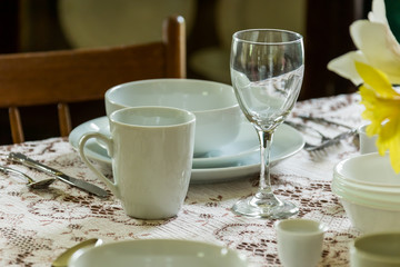 Photo Blinds Coffee beans Vintage table setting