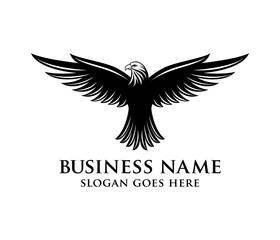 brave and bold eagle vector logo design