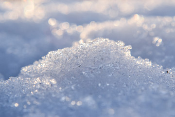 Closeup of Sparkling Snow