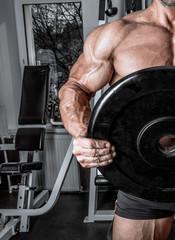 big Russian fitness bodybuilder
