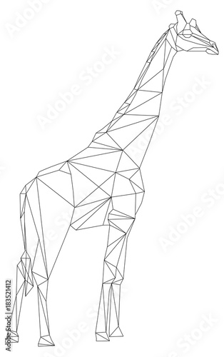 Giraffe Geometric Style Stock Image And Royalty Free Vector Files