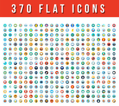 370  Flat Vector Icons