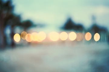 Abstract background beach.Vintage and toned photo.Real bokeh.