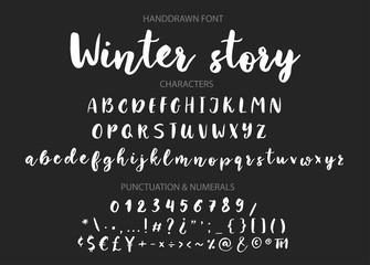 Handwritten Brush font. Hand drawn brush style modern calligraphy.