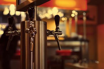 beer tap at the bar