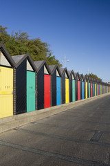 Beach Huts, Lowestoft, Suffolk,England