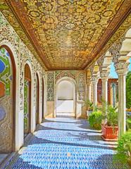 Qajar Era art in Zinat Ol-Molk mansion, Shiraz, Iran