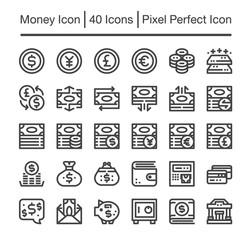 money line icon,editable stroke,pixel perfect icon