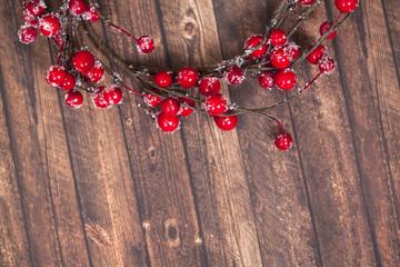 Christmas wreath of red berries