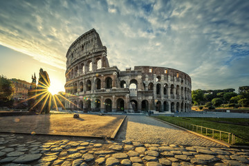 View of Colloseum at sunrise