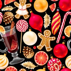 Seamless mulled wine