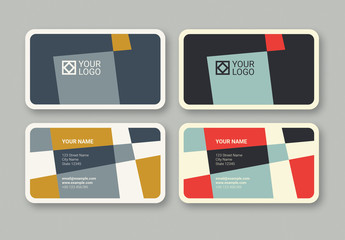 Geometric Business Card in 2 Color Palettes