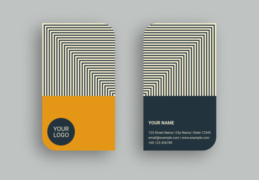 Striped Optical Illusion Business Card
