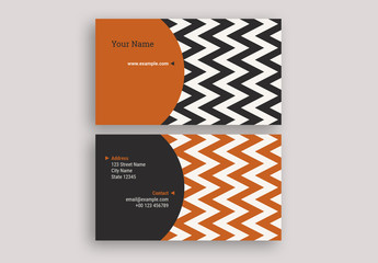 Zig Zag Business Card Layout