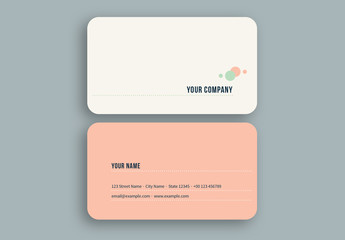 Peach and Green Bubbles Business Card Layout