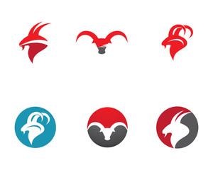 Bull Logo Template vector icon illustration