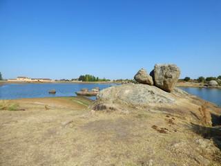 Los Barruecos, paraje natural en Caceres (Extremadura,España) en  el pueblo Malpartida de Caceres