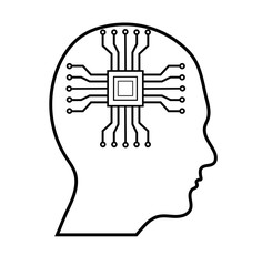 Microchip in Human Brain Logo