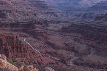 Idyllic view of rock formations at Canyonlands National Park