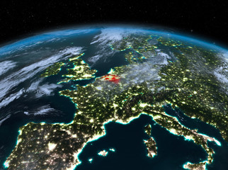 Belgium from space at night
