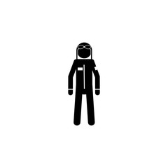 silhouette of military pilot icon. Special services element icon. Premium quality graphic design icon. Professions signs, isolated symbols collection icon for websites, web design