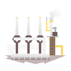 industrial factory building and plant. Industrial city construction vector illustrations