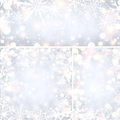 Shining winter backgrounds with snowflakes.
