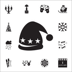 hat with pompom iconsnow. Set of elements Christmas Holiday or New Year icons. Winter time premium quality graphic design collection icons for websites, web design, mobile app