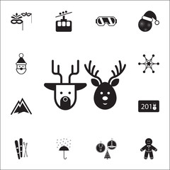deers of Santa Claus icon. Set of elements Christmas Holiday or New Year icons. Winter time premium quality graphic design collection icons for websites, web design, mobile app