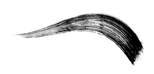 make-up cosmetic mascara brush stroke on white. Vector