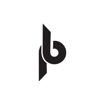 initial letter bp logo vevtor