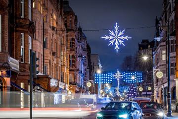 Mayfair in Christmas evening, London