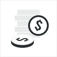 Money icon. Vector Illustration