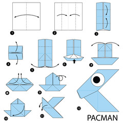 how to make origami pacman