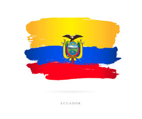 Flag of Ecuador. Abstract concept