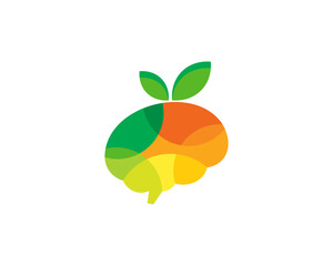 Brain Fruit Icon Logo Design Element