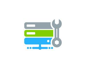 Server Repair Icon Logo Design Element