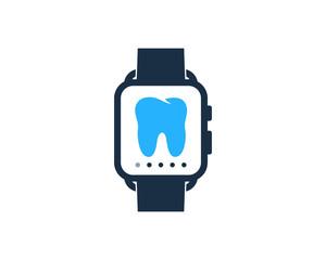 Smartwatch Dental Icon Logo Design Element