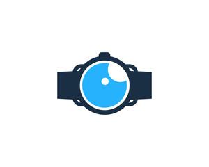 Smartwatch Eye Icon Logo Design Element