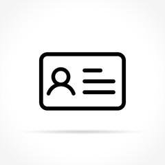 identity card icon on white background