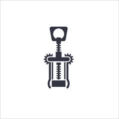 Corkscrew icon. Vector Illustration