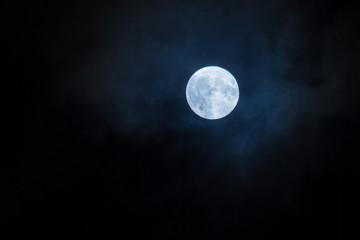 Night Photo of the full moon