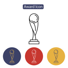 Trophy icon isolated on white background.