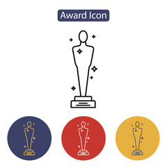 Vector Academy Awards icon.