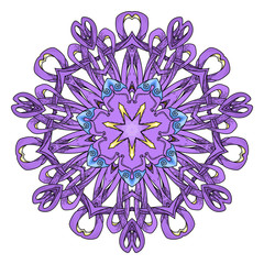 Mandala. Abstract decorative background. Islam, Arabic, oriental, indian, ottoman, yoga motifs.