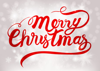 Merry Christmas and New Year Typographical on shiny Xmas background. -Vector Illustration