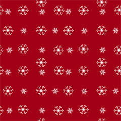 Christmas seamless pattern with snowflakes, vector background
