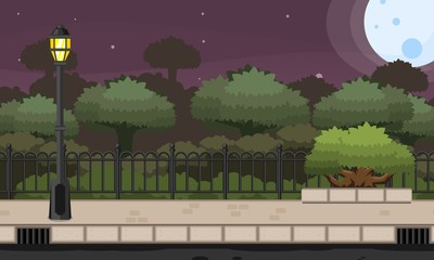 Night Park Game Background