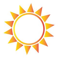 abstract sun shape