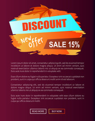 Discount New Offer Autumn Sale 15 Off Advert Label